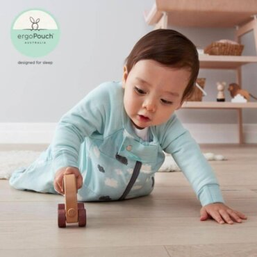 Βρεφικός Υπνόσακος ergoPouch Cocoon Mint Clouds 2 in 1 Sleep Suit για βρέφη 8-24 μηνών 2.5 TOG
