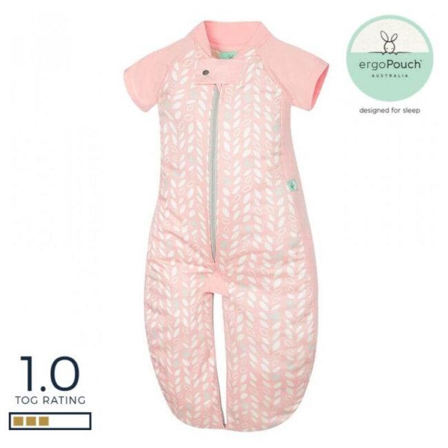 Βρεφικός Υπνόσακος ergoPouch Cocoon Spring Leaves 2 in 1 Sleep Suit για βρέφη 8-24 μηνών 1.0 TOG