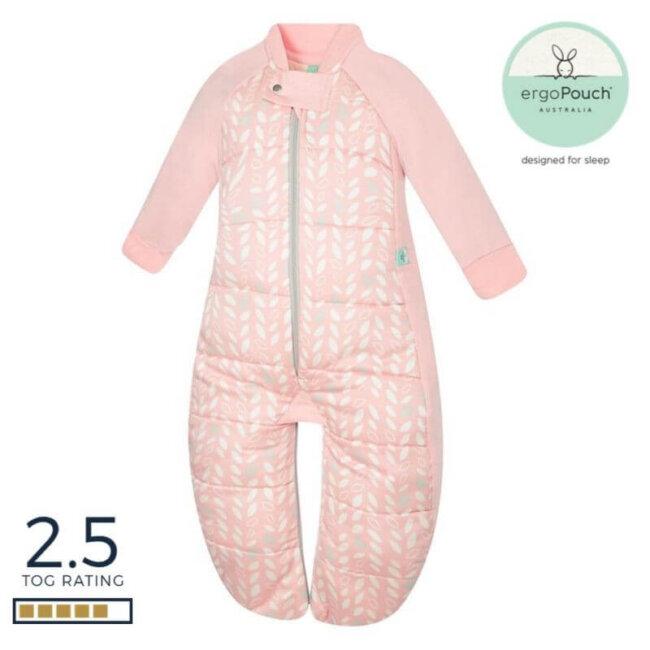 Βρεφικός Υπνόσακος ergoPouch Cocoon Spring Leaves 2 in 1 Sleep Suit για βρέφη 8-24 μηνών 2.5 TOG