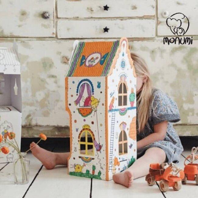 Σπιτάκι XL Καρότα MoNumi από 3D Λευκό χαρτόνι Ζωγραφικής Χάρτινες Κατασκευές – BabyRun