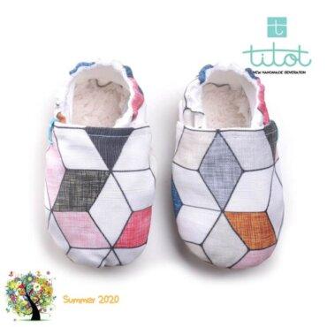 Βρεφικά Παπούτσια Αγκαλιάς Διαμάντια Ροζ baby run Χειροποίητα Βαμβακερό 12-18 Mηνών   TiTot Νο 20