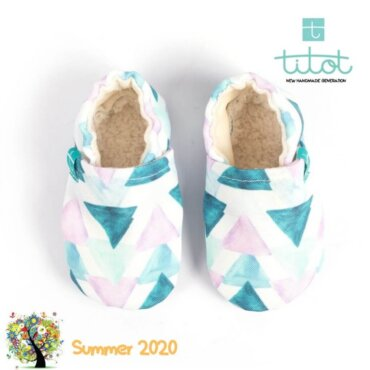 Βρεφικά Παπούτσια Αγκαλιάς Crawl Λιμνοθάλασσα baby run Χειροποίητα 18-24 Mηνών   TiTot Νο 22