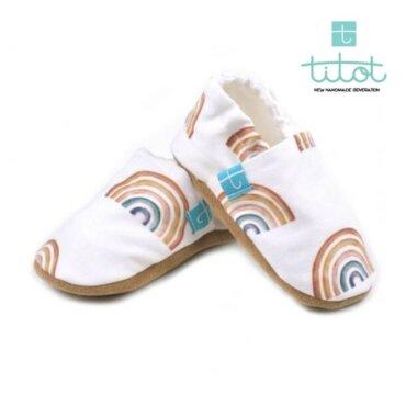 Βρεφικά Παπούτσια Αγκαλιάς Crawl Ουράνια baby run Χειροποίητα 18-24 Mηνών   TiTot Νο 22