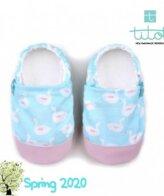 Βρεφικά Παπούτσια Αγκαλιάς Κύκνοι Μέντας baby run Χειροποίητα Βαμβακερό 18-24 Mηνών   TiTot Νο 22