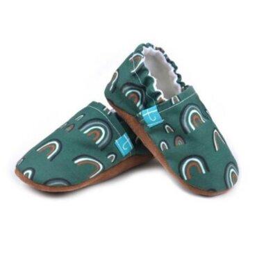 Βρεφικά Παπούτσια Αγκαλιάς Crawl Τόξο πράσινο Χειροποίητα 12-18 Mηνών | TiTot Νο 20