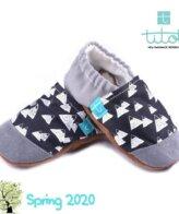 Βρεφικά Παπούτσια Αγκαλιάς Άσπρα Βουνά baby run Χειροποίητα Βαμβακερό 18-24 Mηνών | TiTot Νο 22