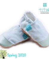 Βρεφικά Παπούτσια Αγκαλιάς Linen Μέντα chambray baby run Χειροποίητα 12-18 Mηνών | TiTot Νο 20