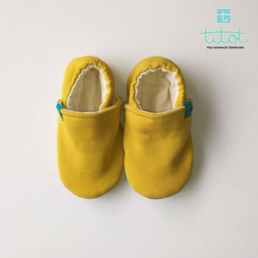 Βρεφικά Παπούτσια Αγκαλιάς Μέλι baby run Χειροποίητα Βαμβακερό 24-36 Mηνών | TiTot Νο 24