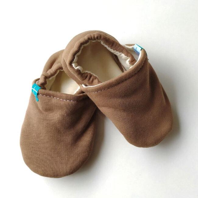 Βρεφικά Παπούτσια Αγκαλιάς Ξηρός καρπός baby run Χειροποίητα Βαμβακερό 12-18 Mηνών | TiTot Νο 20