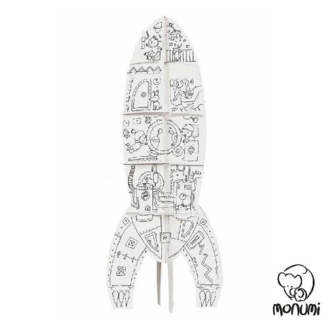 Πύραυλος MoNumi XLL Rocket από 3D Λευκό χαρτόνι Ζωγραφικής Χάρτινες Κατασκευές – BabyRun