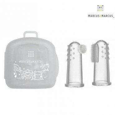 Βρεφικές Δακτυλικές Οδοντόβουρτσες Σιλικόνης της Marcus & marcus Finger toothbrush & gum massager set
