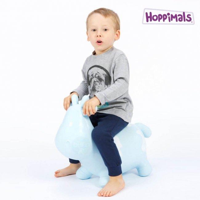 Hoppimals Φουσκωτή Αγελάδα Χοπ Χοπ Μπλέ