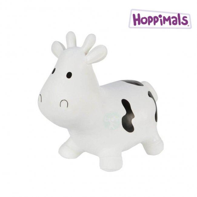 Hoppimals Φουσκωτή Αγελάδα Χοπ Χοπ Λευκή