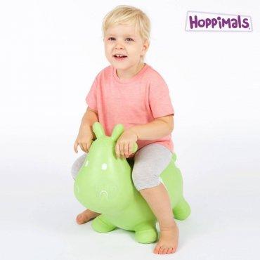 Hoppimals Φουσκωτή Αγελάδα Χοπ Χοπ Πράσινη
