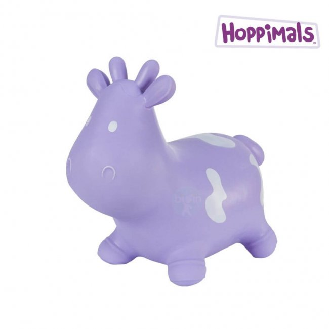 Hoppimals Φουσκωτή Αγελάδα Χοπ Χοπ Λιλά