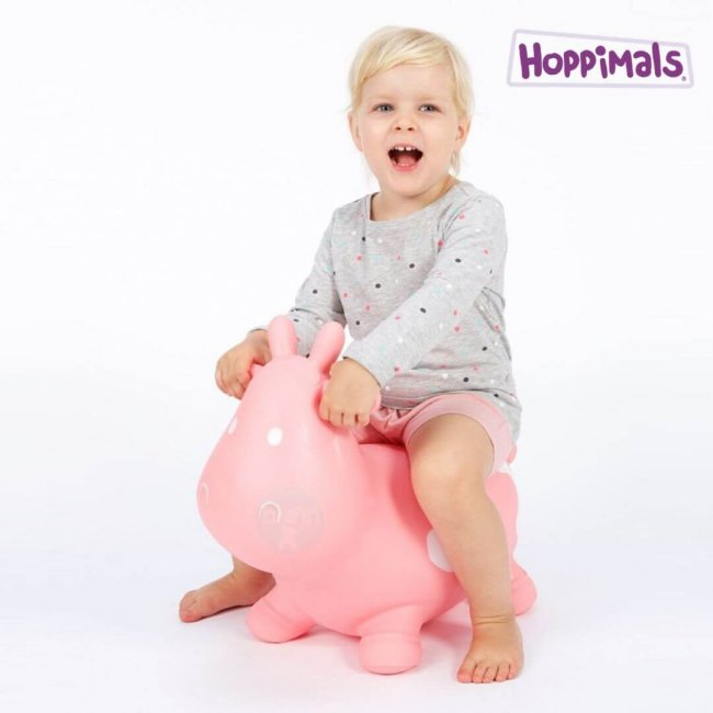 Hoppimals Φουσκωτή Αγελάδα Χοπ Χοπ Ρόζ