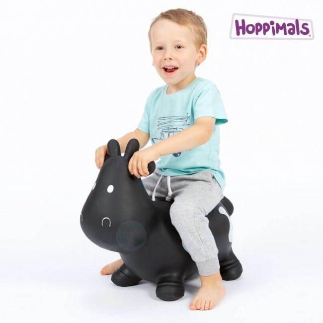 Hoppimals Φουσκωτή Αγελάδα Χοπ Χοπ Μαύρη