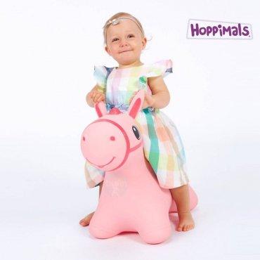 Hoppimals Φουσκωτό Αλογάκι Χοπ Χοπ Ρόζ