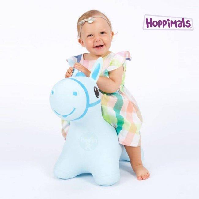 Hoppimals Φουσκωτό Αλογάκι Χοπ Χοπ Θαλασσί