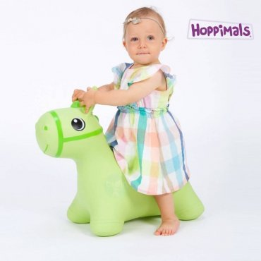 Hoppimals Φουσκωτό Αλογάκι Χοπ Χοπ Πράσινο