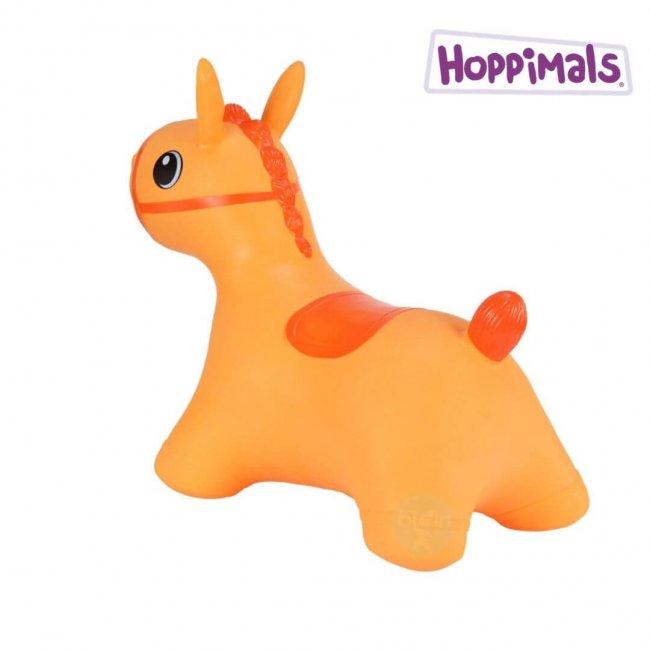 Hoppimals Φουσκωτό Αλογάκι Χοπ Χοπ Πορτοκαλί