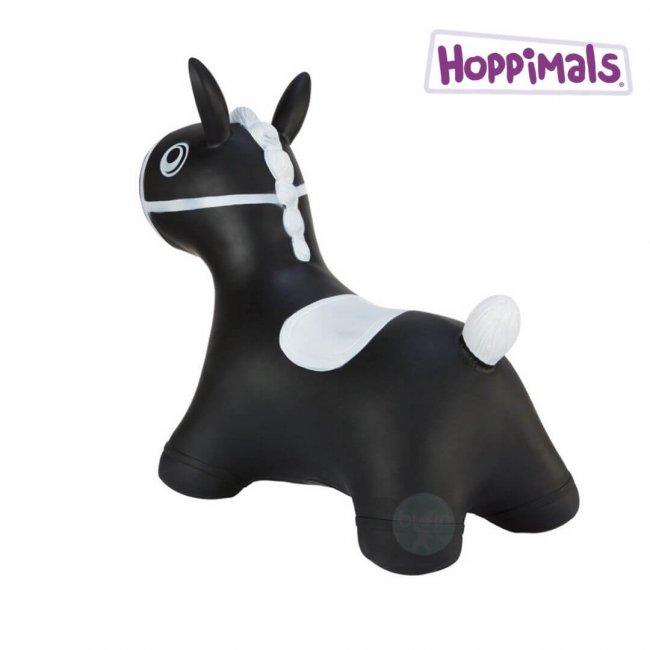 Hoppimals Φουσκωτό Αλογάκι Χοπ Χοπ Μαύρο