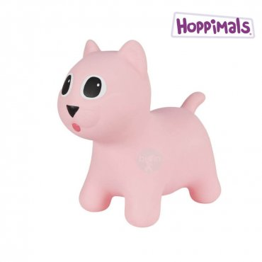 Hoppimals Φουσκωτή Γάτα Χοπ Χοπ Ρόζ