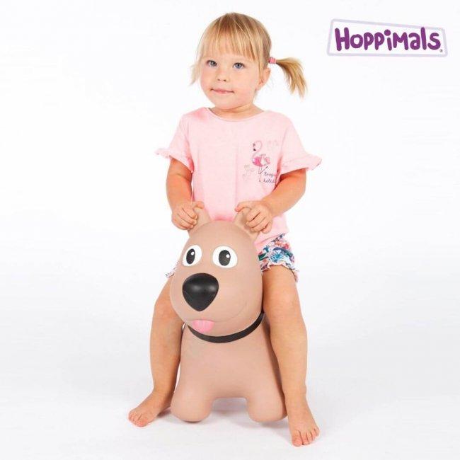 Hoppimals Φουσκωτός Σκύλος Χοπ Χοπ Καφέ