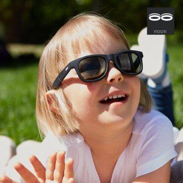 iTooTi Μαύρα Παιδικά Γυαλιά Ηλίου 3-5 ετών