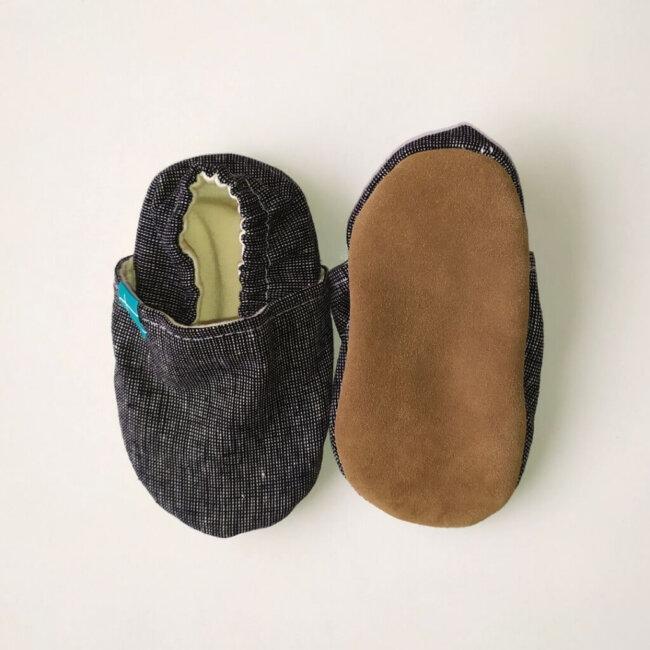 Βρεφικά Παπούτσια Αγκαλιάς Crawl Γραφίτης Χειροποίητα 12-18 Mηνών   TiTot Νο 20