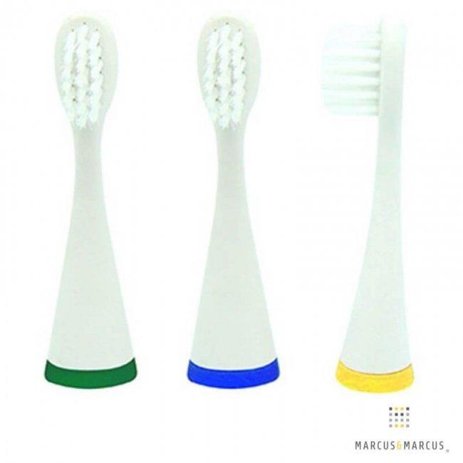 3 Ανταλλακτικές Οδοντόβουρτσες Παιδικές για Oral Sonic Electric Marcus & Marcus kids