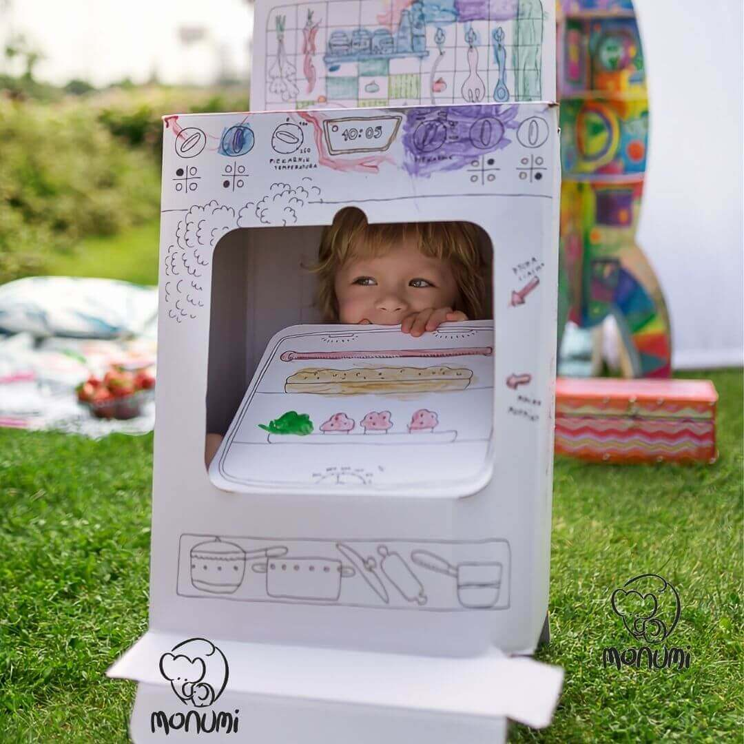 Παιδική Κουζίνα MoNumi XLL Kitchen Cooker από 3D Λευκό χαρτόνι Ζωγραφικής Χάρτινες Κατασκευές – BabyRun