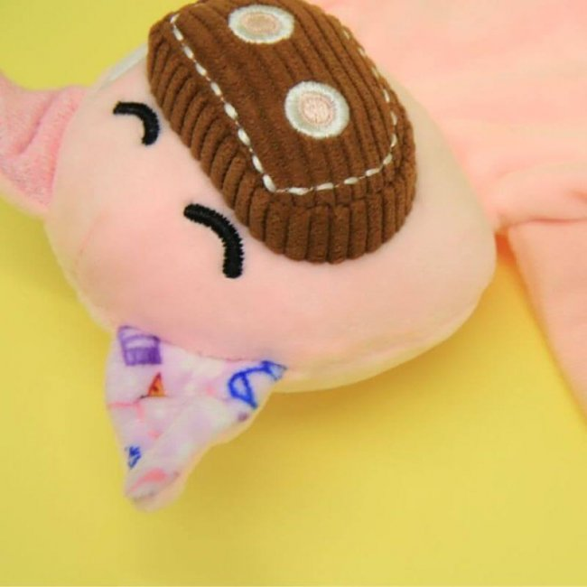 Βρεφικό Πανάκι παρηγοριάς αγκαλιάς με πιπίλα Ζωάκι Marcus & Marcus Γουρουνάκι Doudou comforter