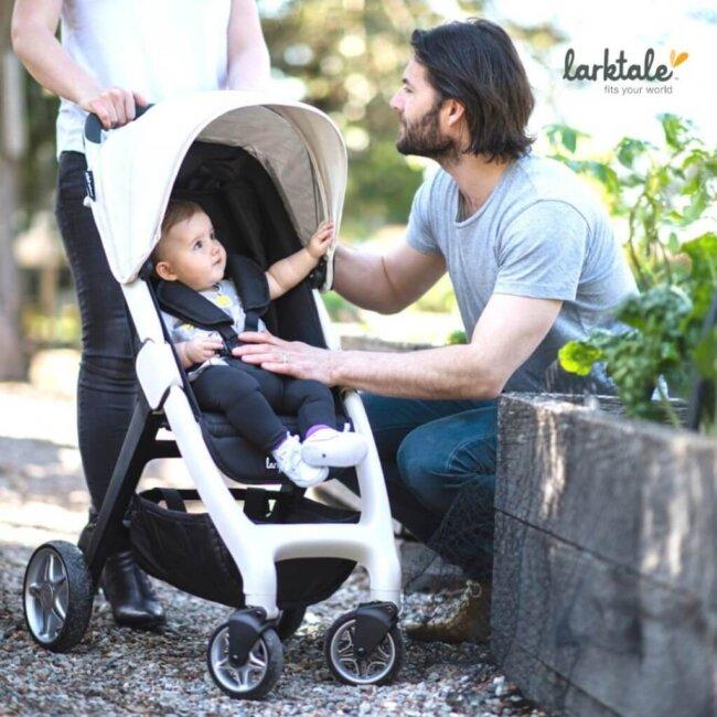 Παιδικό καρότσι για μωρά SpaceFrame chit chat 20 Vanilla που διπλώνει 6.5 kg Larktale