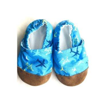 Βρεφικά Παπούτσια Αγκαλιάς Αεροπλανάκια baby run Χειροποίητα Βαμβακερό 18-24 Mηνών   TiTot Νο 22