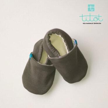 Βρεφικά Παπούτσια Αγκαλιάς Ελιά baby run Χειροποίητα Βαμβακερό 12-18 Mηνών   TiTot Νο 20