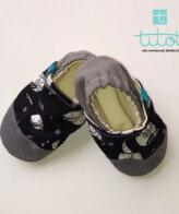 Βρεφικά Παπούτσια Αγκαλιάς Xειμέρια νάρκη baby run Χειροποίητα Βαμβακερό 24-36 Mηνών   TiTot Νο 24