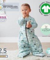 Παιδικός Υπνόσακος ergoPouch Cocoon Mint Clouds 2 in 1 Sleep Suit για παιδιά 2-4 ετών 2.5 TOG