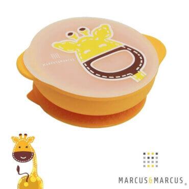 Μπολ σιλικόνης με καπάκι αντιολισθητική βεντούζα Marcus & Marcus Καμηλοπάρδαλη Suction Lid