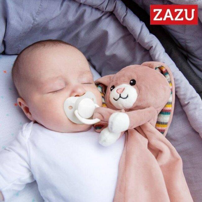 Βρεφικό Πανάκι παρηγοριάς Λαγουδάκι Becky ZAZU ZA-BECKY-01