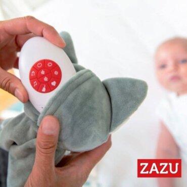 Βρεφικό Πανάκι παρηγοριάς αγκαλιάς με Συσκευή Λευκών ήχων & Μελωδίες Αλεπουδάκι Felix ZAZU