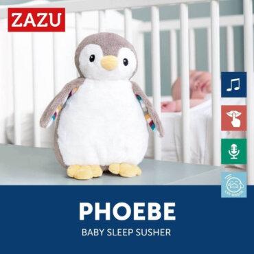 Zazu Φοίβη Πιγκουίνος Εγγραφής Φωνής, Αναπαραγωγή Λευκών Ήχων και Φως ZA-PHOEBE-01