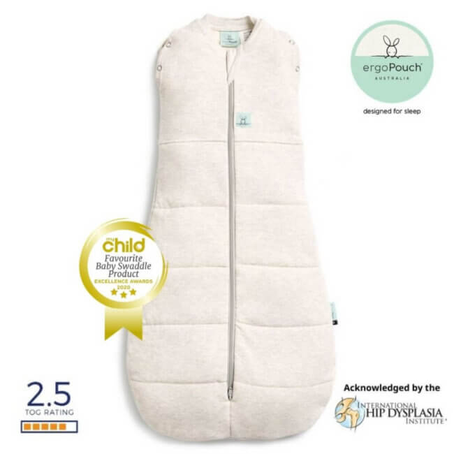 ErgoPouch Βρεφικός Υπνόσακος 3-12 Μηνών Coccon Grey Marle 2 in 1 2.5 TOG