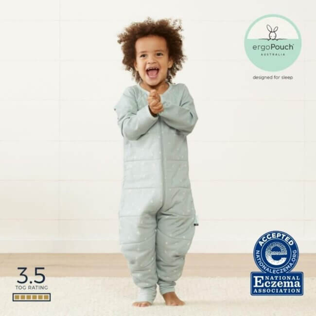 ErgoPouch Sage - Onesie Παιδική Φόρμα Ύπνου Τύπου Πιτζάμα 4-5 ετών 3.5 TOG