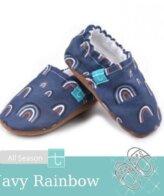 18-24 Mηνών No 22 TiTot Blue Rainbow Παντοφλάκια Crawl Toddler Run Χειροποίητα