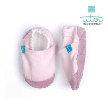 12-18 Μηνών No 20 TiTot Glee Light Pink παντοφλάκια βρεφικά Χειροποίητα