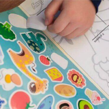 Βιβλίο Zωγραφικής Με Αυτοκόλλητα Marcus & Marcus 16 Σελίδες για ζωγραφική και διασκεδαστικά αυτοκόλλητα με τα ζωάκια μας.
