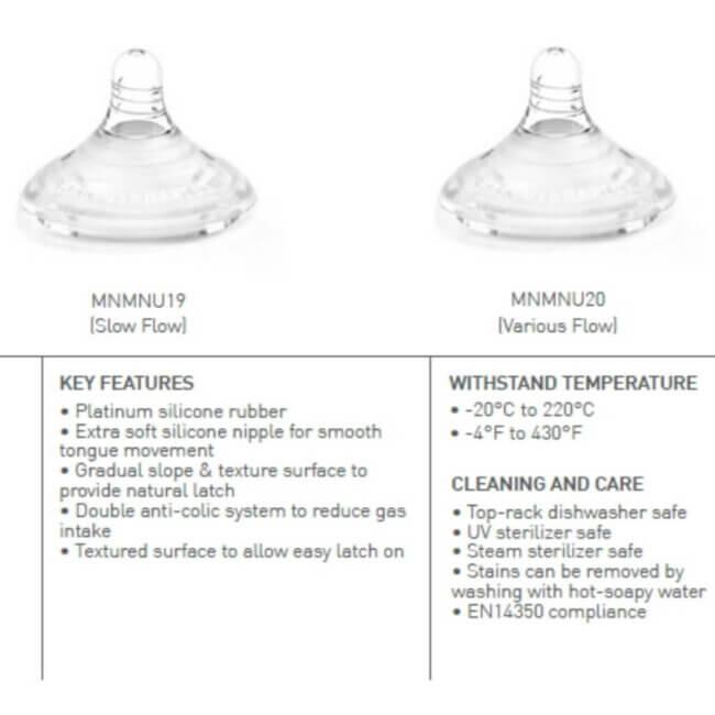 X-SOFT Θηλές Αργής Ροής Χ2 τμχ. Σιλικόνης Platinum Διπλό αντι-κολικό marcus