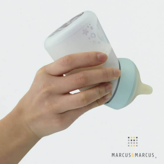 X-SOFT Silicon Μπιμπερό 240ml, Μπουκάλι φύλαξης μητρικού Γάλακτος 2 σε 1 Μέντα Marcus